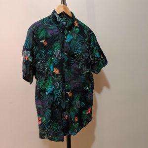 H&M Tropical Button Down